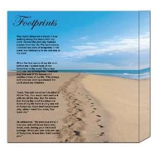 Footprints in the Sand Poster Poem Variations Childrens.