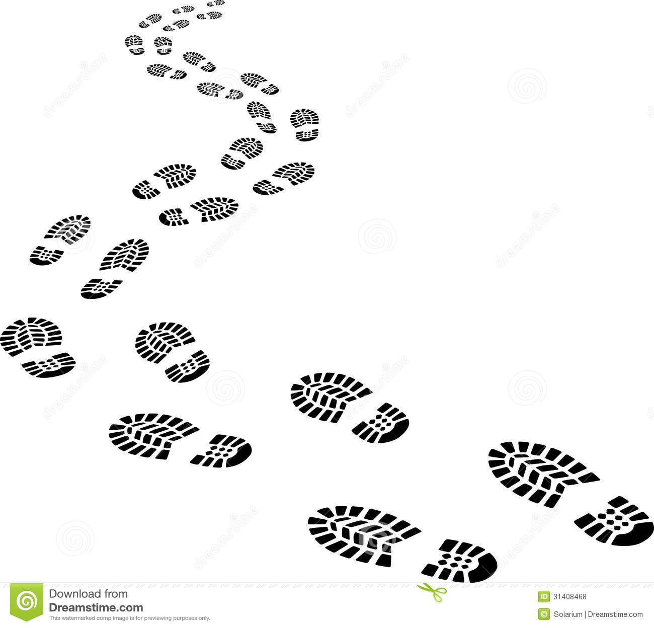 Footprints in the snow clipart 1 » Clipart Portal.