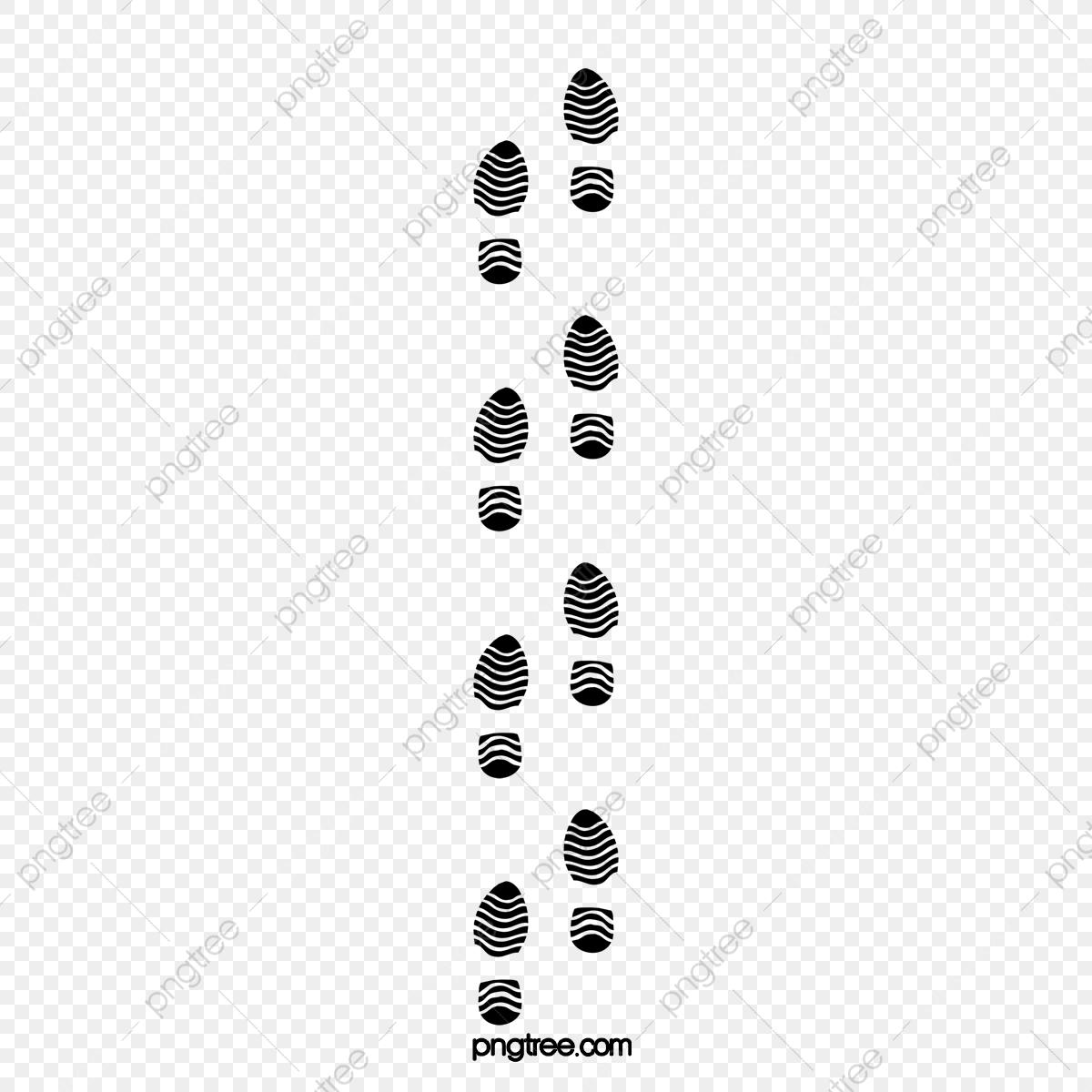 A Row Of Footprints On The Snow, Footprint, Snow Footprints, Snow.