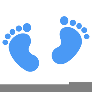 Baby Footsteps Clipart.