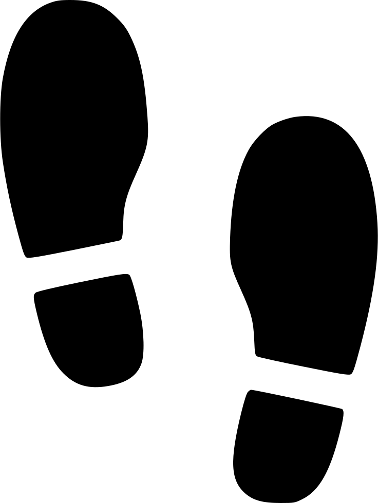 Shoes Foot Step Footsteps Svg Png Icon Free Download (#519040.