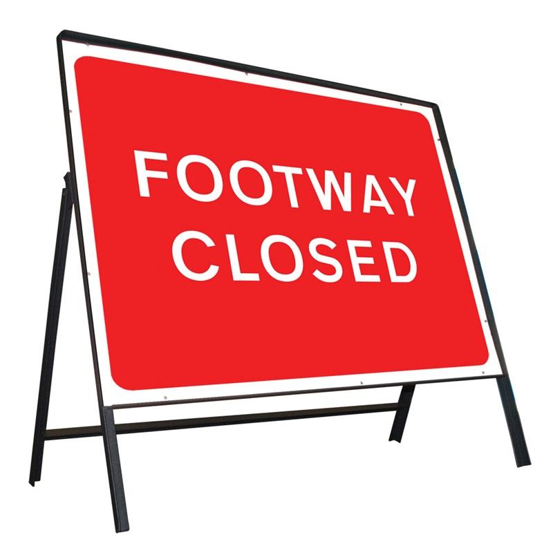 Footway Closed.
