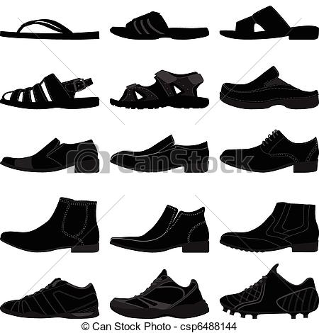 Footwear Clipart and Stock Illustrations. 17,163 Footwear vector.