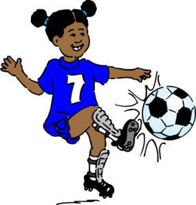 Girl Playing Footy Clip Art at Clker.com.