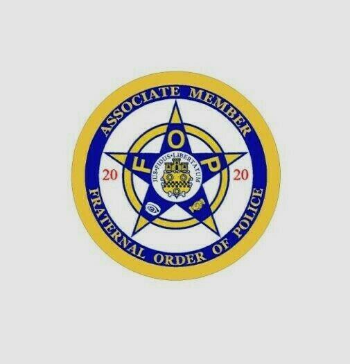 2020 Fraternal Order Of Police Badge Vinyl Decal Sticker FOP Blue Line PBA  COP.