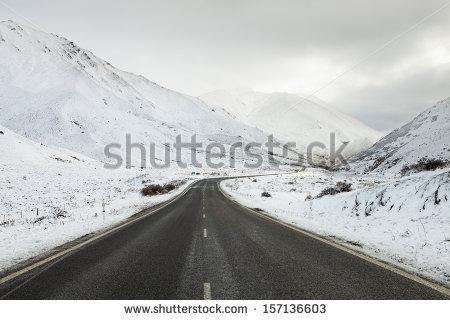 Snow Mountain Range Stock Photos, Royalty.