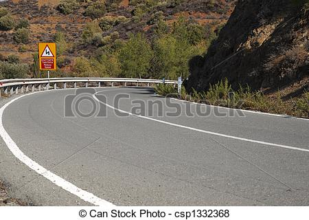 Pictures of winding mountain road in cyprus.