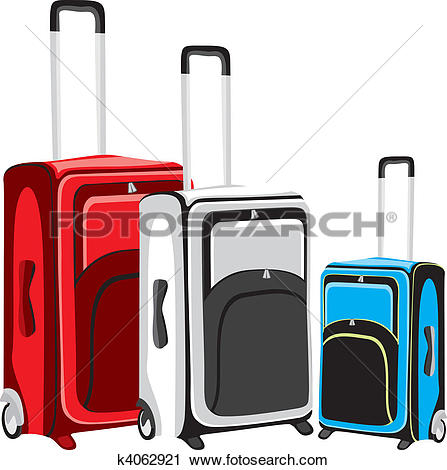 Clipart of illustration of isolated luggage k4062921.