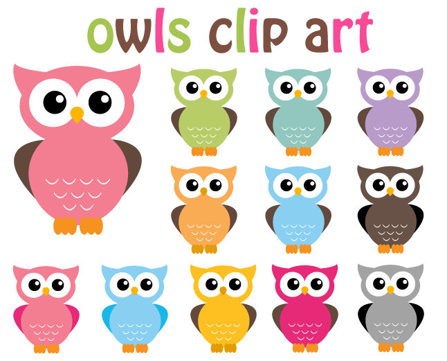 Free clip art owls cute.