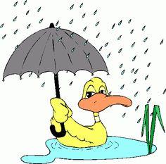 April Showers Clipart, Umbrella Clipart, Clouds Digital Clipart.