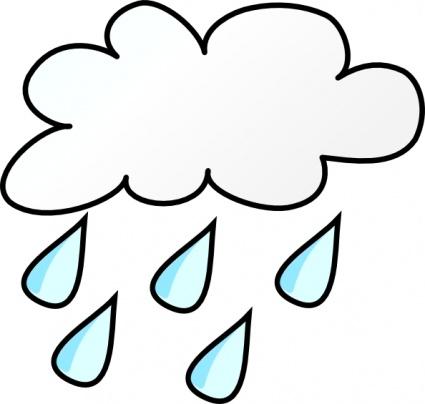 rain clipart 64159 vector of a cartoon sad girl in rain gear.