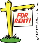 Rent Sign Clip Art.