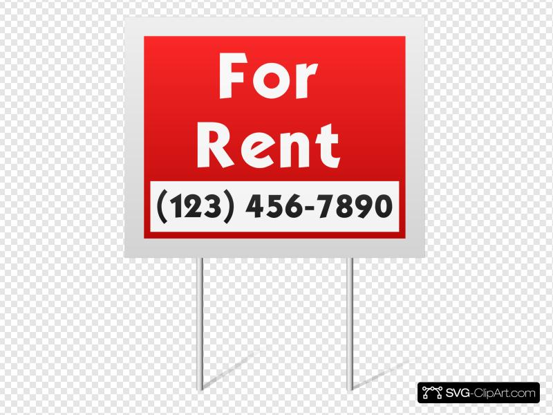 For Rent Sign Clip art, Icon and SVG.