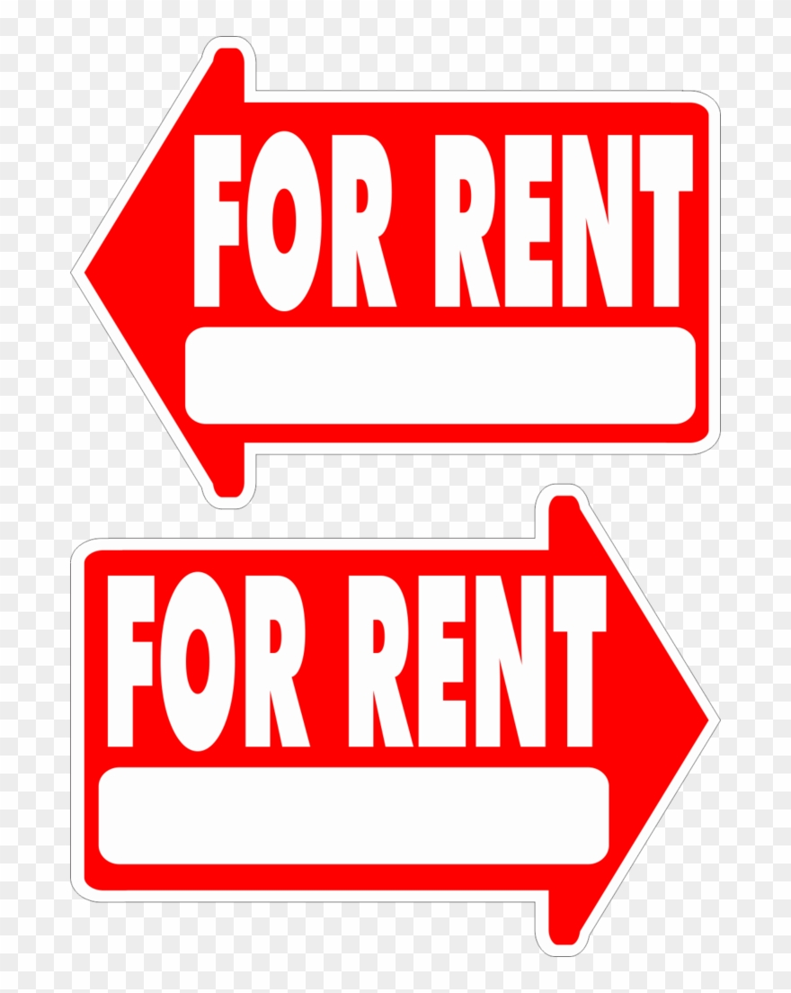 For Rent Yard Sign Arrow Shaped With Frame Statrting.