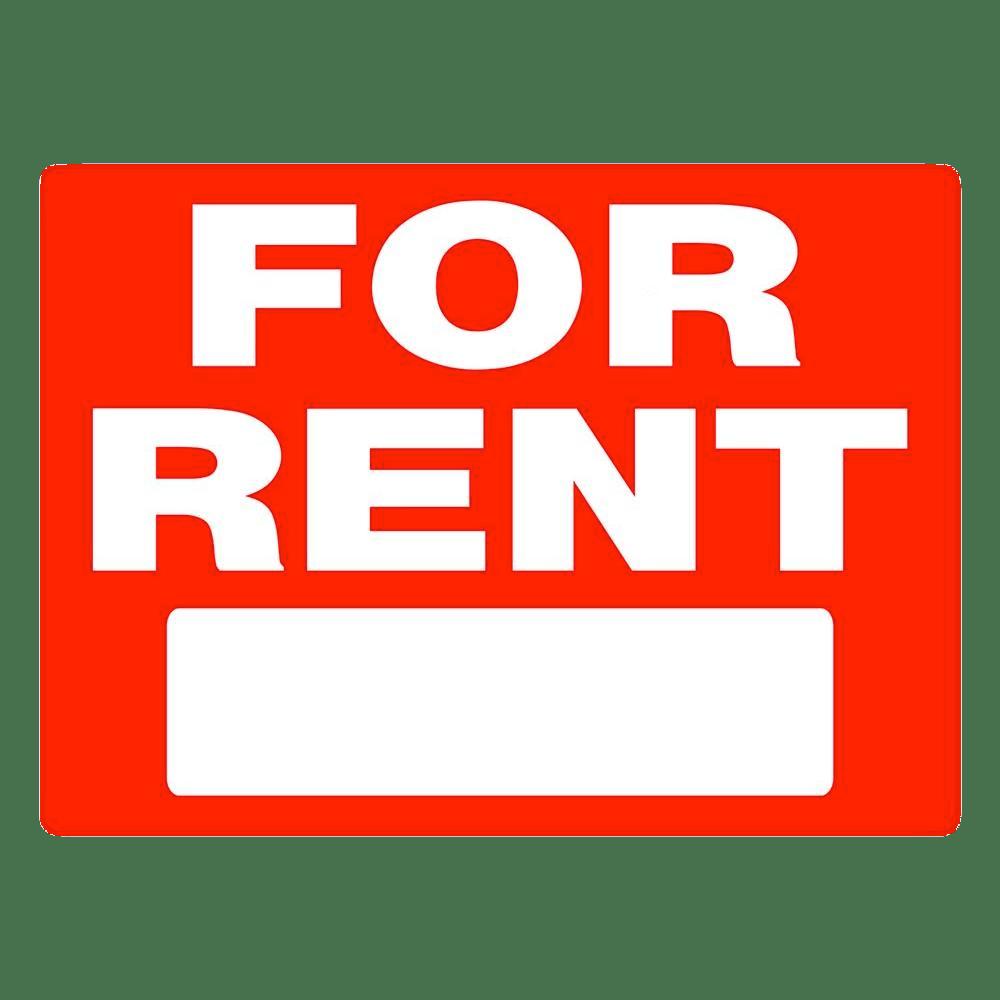 For Rent Rectangular Sign transparent PNG.