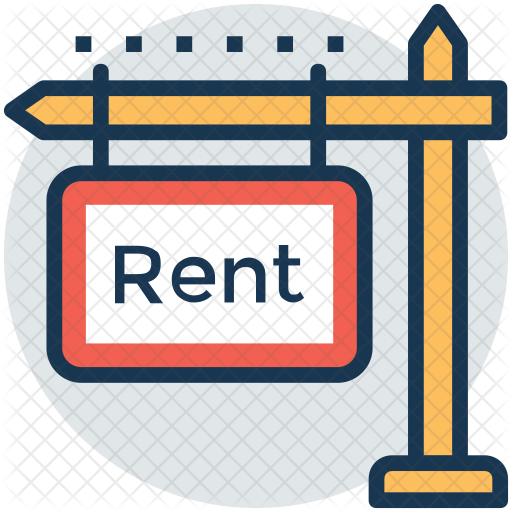 For Rent Sign Icon.