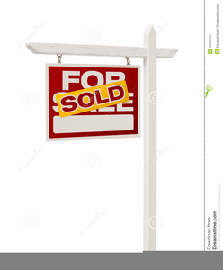 Real Estate For Sale Sign Clipart.