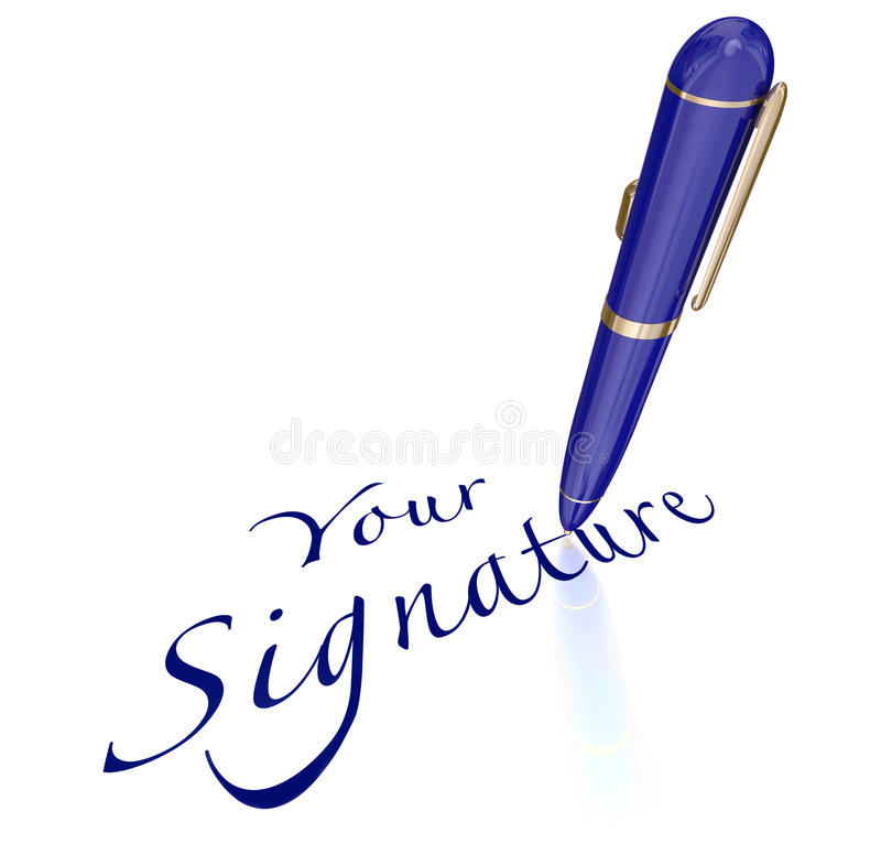 Agree Signature Stock Illustrations.