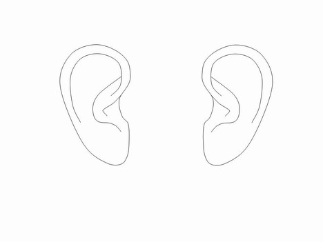 Ear Outlines Clip Art.