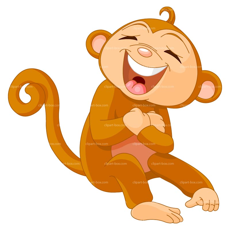 CLIPART LAUGHING MONKEY.