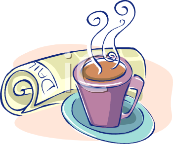 Coffee morning clipart.