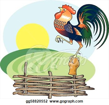 Free Rooster Morning Clipart.