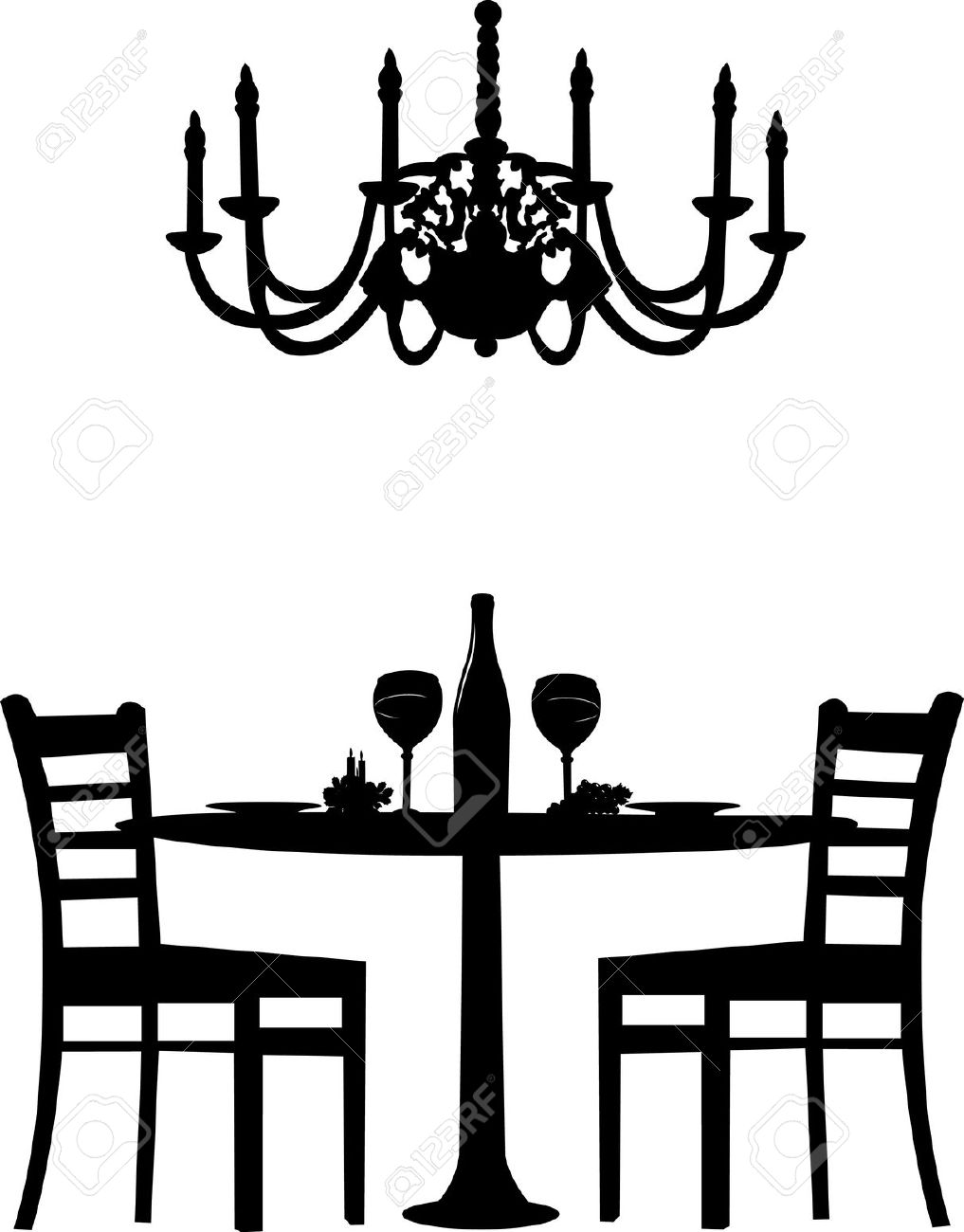 Romantic dinner clipart free.