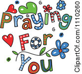 Praying for you clipart.