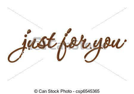 Just For You Clipart.