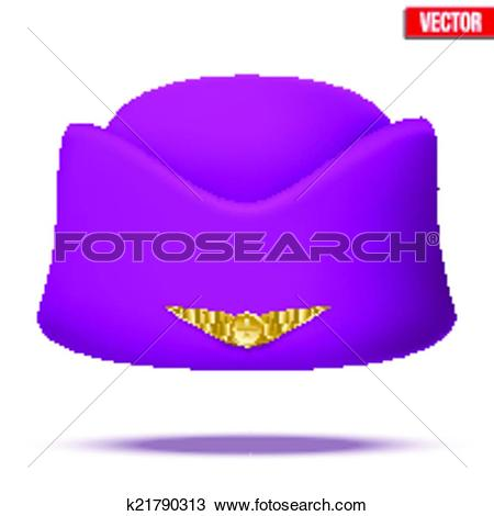 Clipart of Classic Stewardess hat forage.