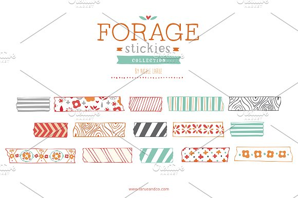 Forage Stickies (Clipart) ~ Illustrations on Creative Market.