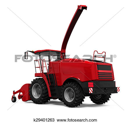 Drawing of Red Forage Harvester k29401263.