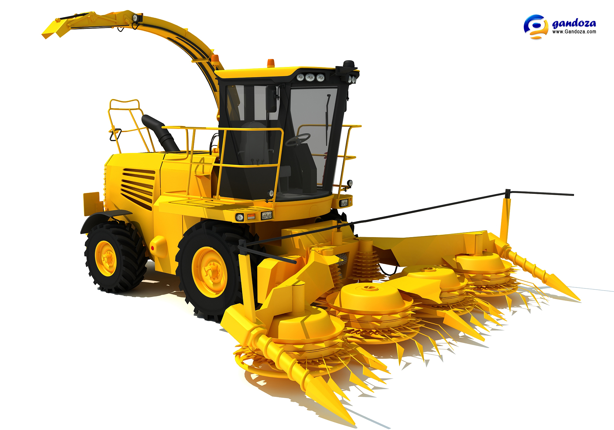 New Forage Harvester 3D Model.