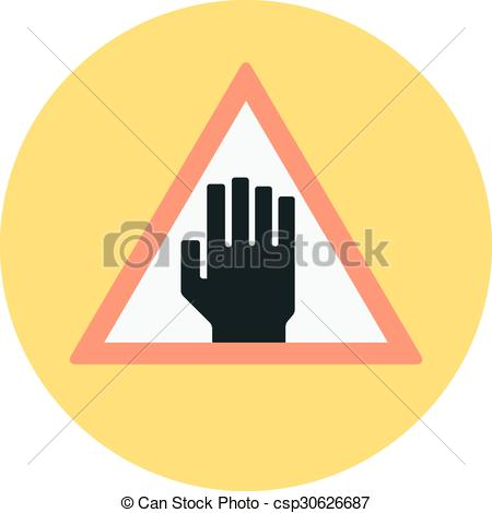 Vector of Forbidden area, beware flat style colorful, vector icon.