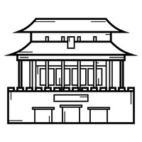 Forbidden city Vector Image.