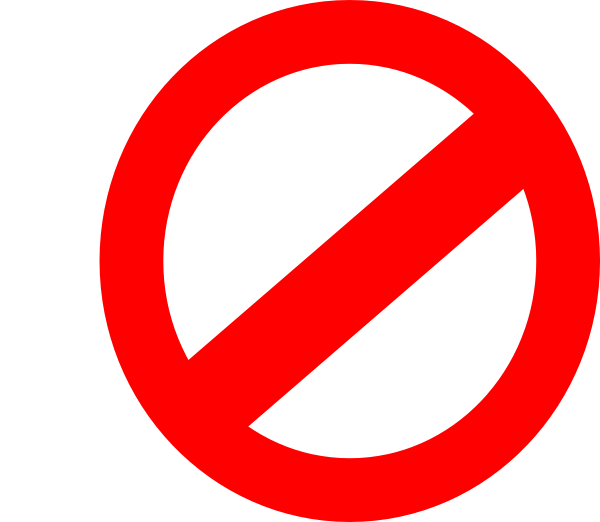 Forbidden sign clipart.