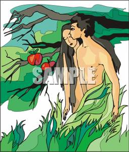 and Eve with the Forbidden Fruit Clipart Picture.