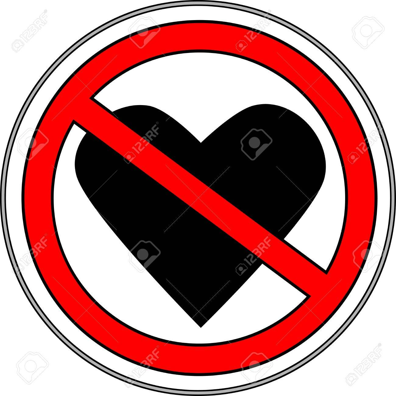 Sign, symbol, indicating a failure of forbidden love.