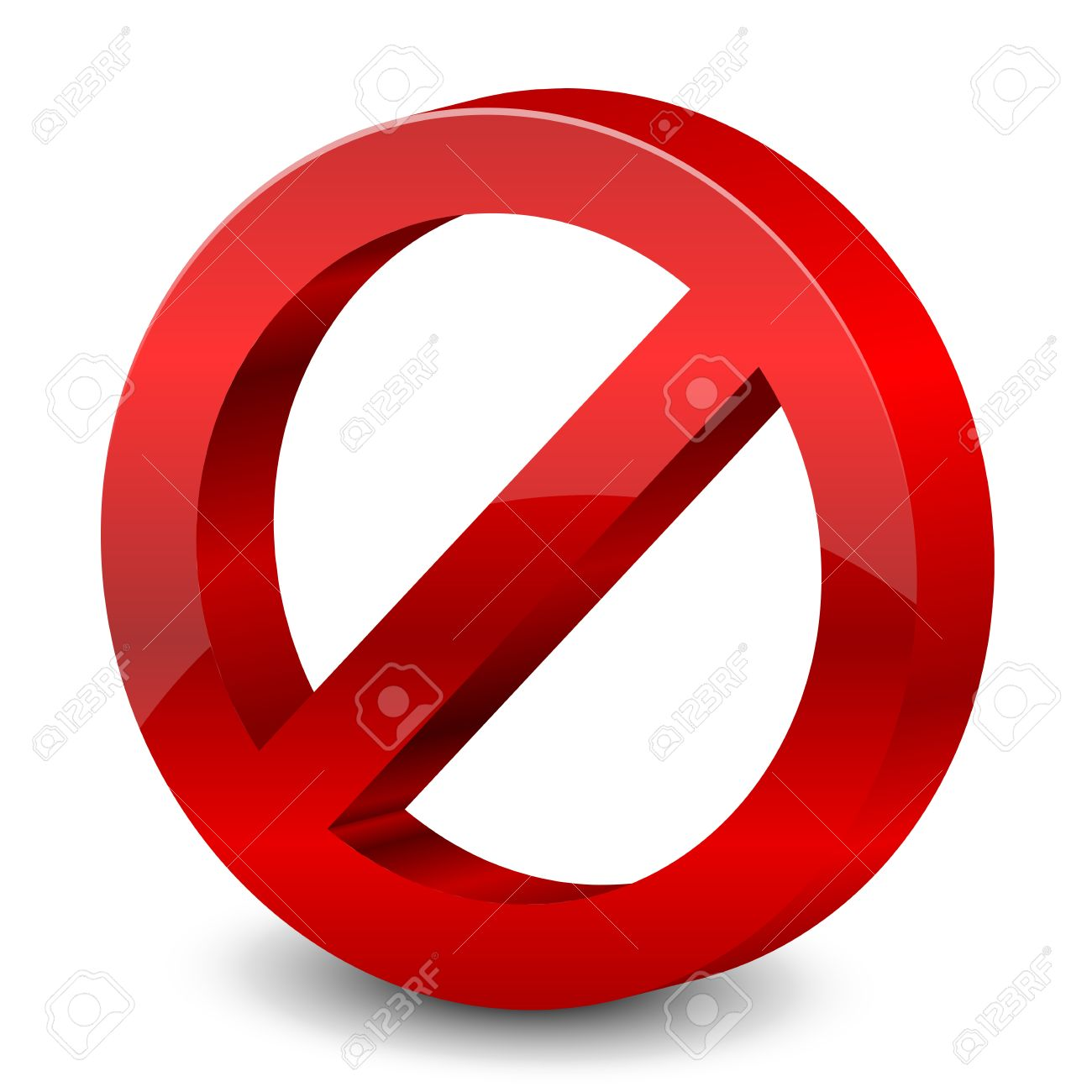 Illustration Of 3d Forbidden Sign Royalty Free Cliparts, Vectors.