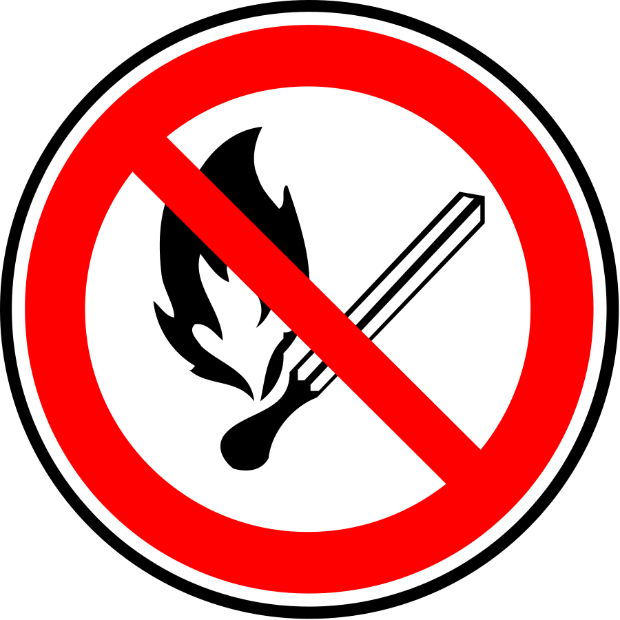 Fire Forbidden Sign large in forbidden sign clipart collection.