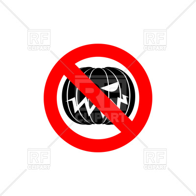 Stop Halloween sign, red forbidden sign with pumpkin Vector Image.