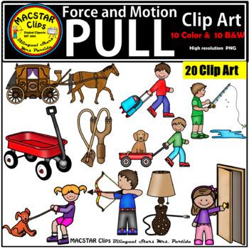 Force & Motion Clip Art BUNDLE Commercial Use.