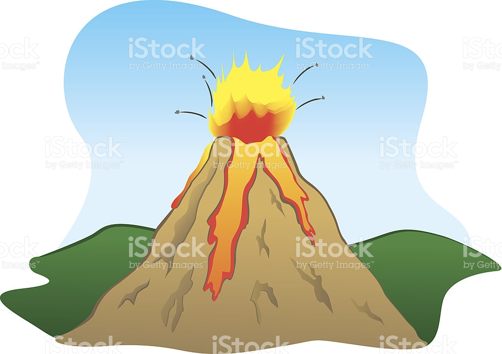 Force Of Nature A Volcano Erupting stock vector art 509658459.