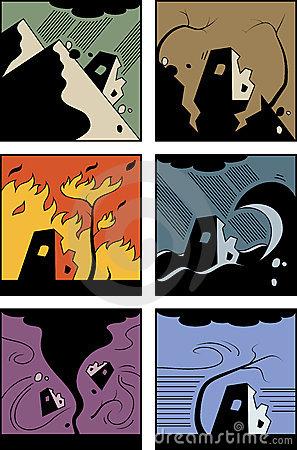 Landslide Stock Illustrations.