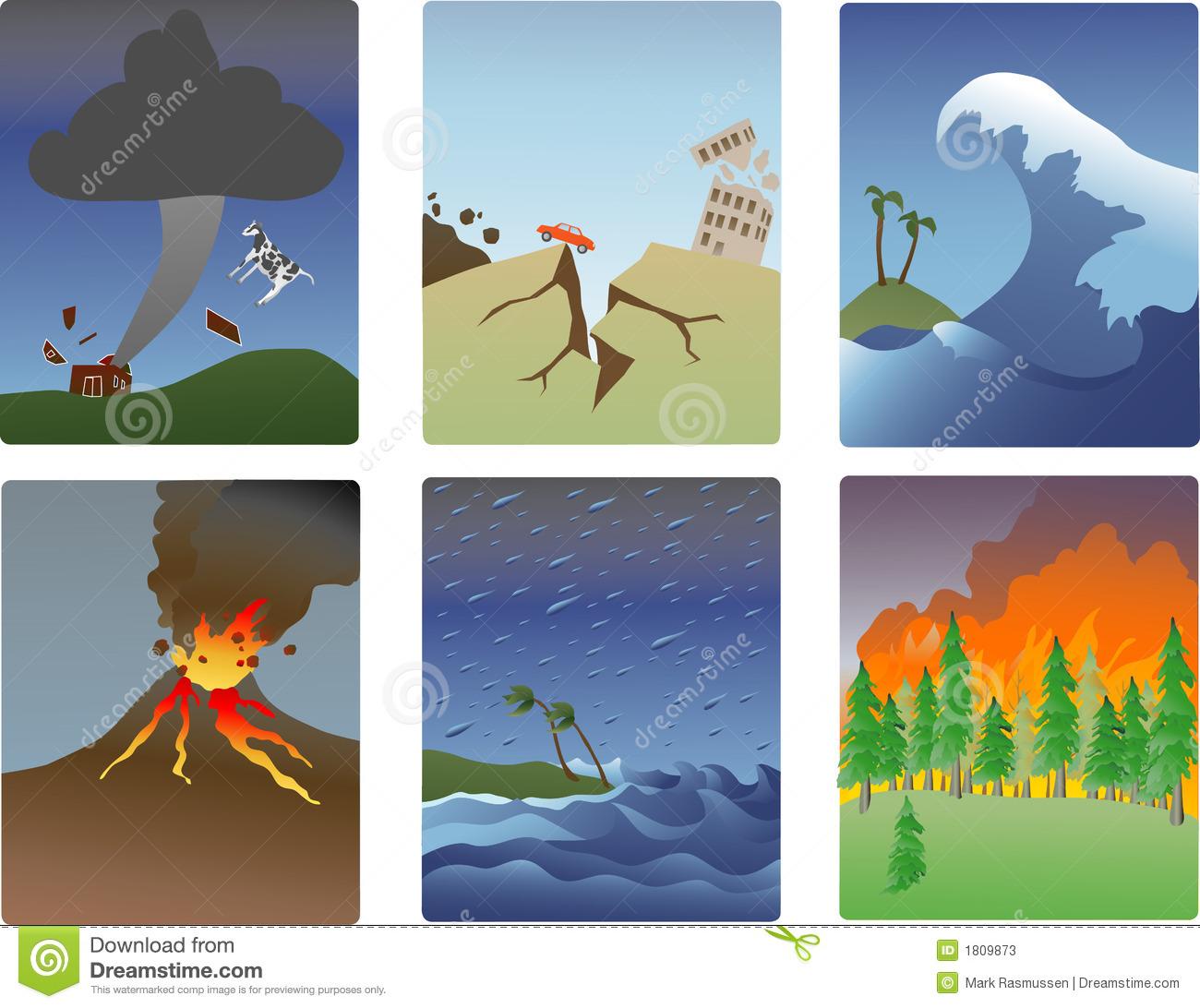 Natural Disaster Miniatures Stock Photos.