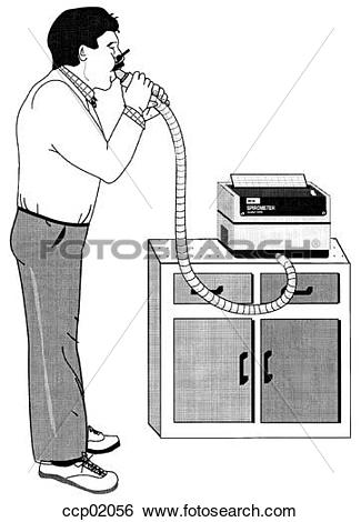 Stock Illustration of Pulmonary function testing, forced.