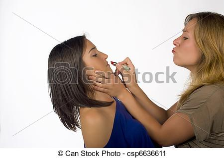 Stock Photography of Forceful makeup.