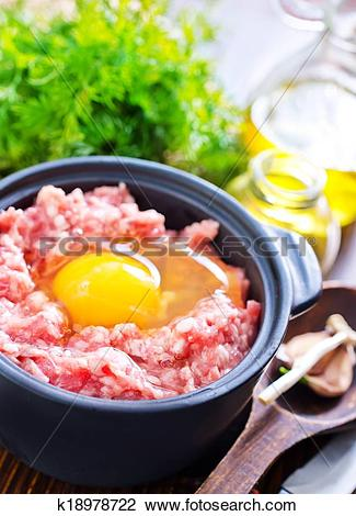Stock Photo of force meat k18978722.