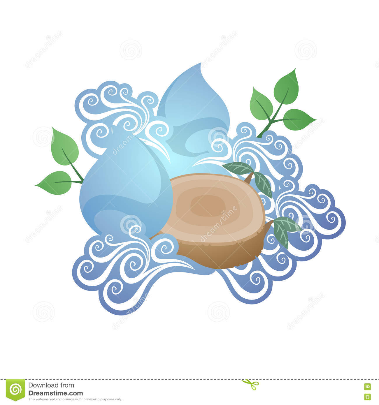 Forces Of Nature Stock Vector.