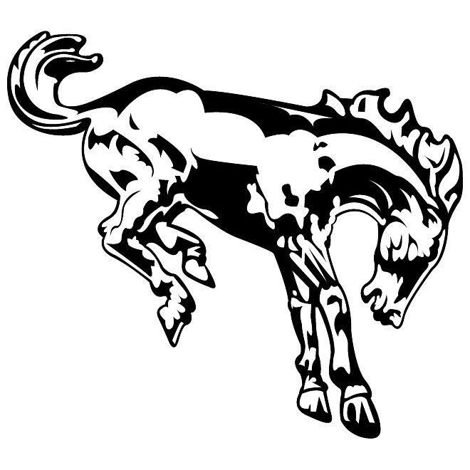 Ford Bronco Symbol Clipart.